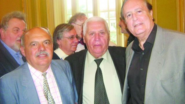 Geo Constantinescu, alături de George Sorescu și Justo Jorje Padrón, Craiova, septembrie 2014