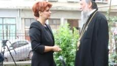Primarul Lia Olguţa Vasilescu şi Mitropolitul Olteniei, ÎPS Irineu, la negocieri