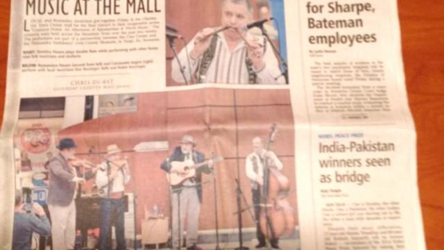 """Reprezentanţii Liceului  """"Constantin Brăiloiu"""",  pe prima pagină în presa locală din SUA"""