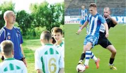 Antrenorul Vali David simte că juniorii săi şi-au găsit idoli: pe Vătăjelu (la minge) şi colegii săi de la CS Universitatea Craiova