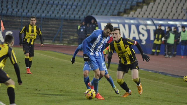 Andrei Herghelegiu a marcat la primul său joc ca titular la CSU Craiova
