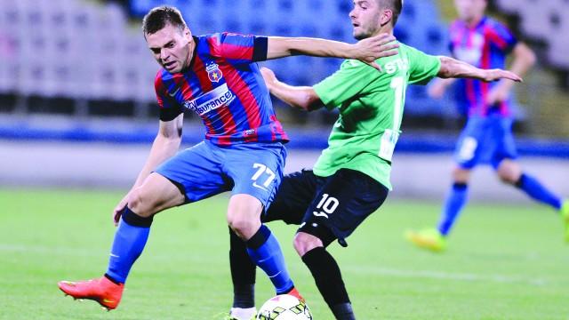 """Viorel Ferfelea (tricou verde) şi colegii săi au şansa să răzbune acel 1-3 înregistrat în """"Ghencea"""""""