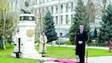Alteţa Sa Regală Principele Radu, la ceremonia prilejuită de dezvelirea bustului Regelui Mihai I al României