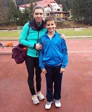 Simona Halep şi Alexandru Coman s-au întâlnit la un stagiu de pregătire în Poiana Braşov