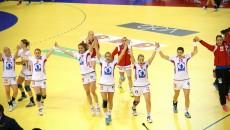 Jucătoarele din selecţionata Norvegiei sărbătoresc deja calificarea în semifinale
