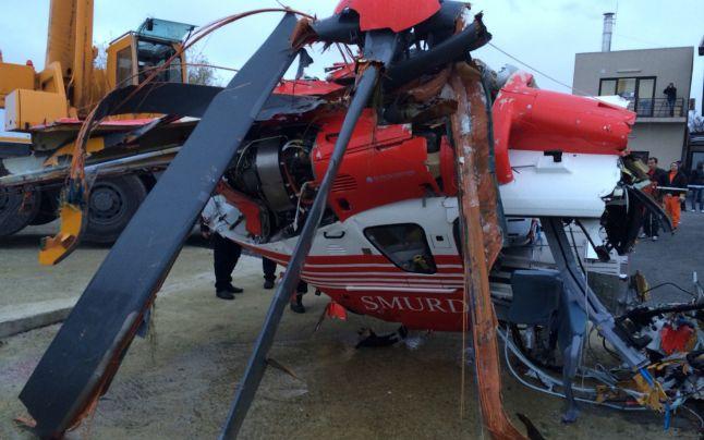 Epava elicopterului va fi supusă unui expertize tehnice