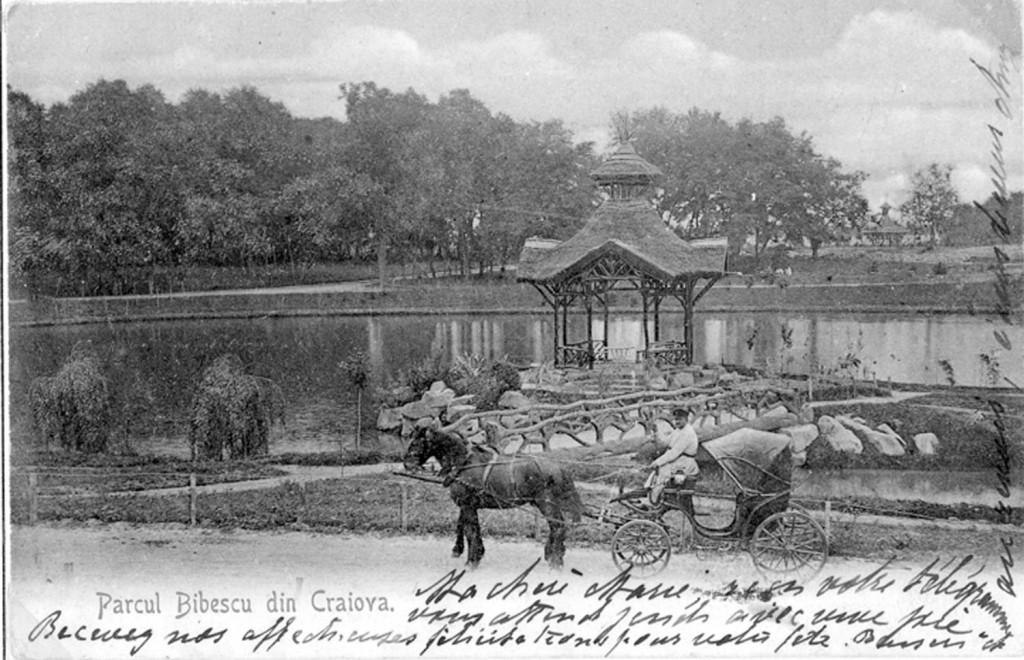Parcul Bibescu, unul dintre locurile din Craiova de altădată ce au atras atenția călătorilor străini - Foto: Arhiva GdS