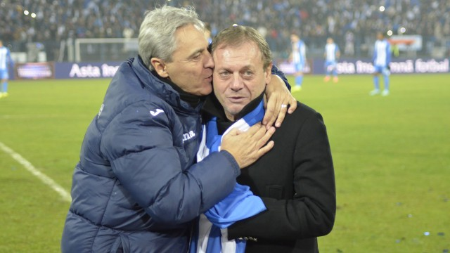 Sorin Cârţu l-a îmbrăţişat pe Ilie Balaci după ce acesta a dat lovitura de începere