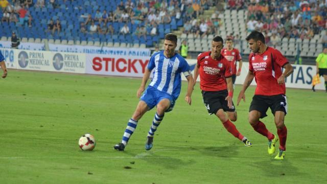 Momcilovic (numărul 4) a fost unul dintre pilonii de bază ai echiepi gorjene în turul campionatului (Foto: Alexandru Vîrtosu)