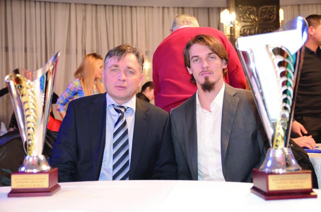 Antrenorul de handbal Aurelian Roşca şi atletul Marian Oprea au obţinut cele mai notabile rezultate sportive pentru judeţul Dolj în 2014 (Foto: Daniela Mitroi-Ochea)