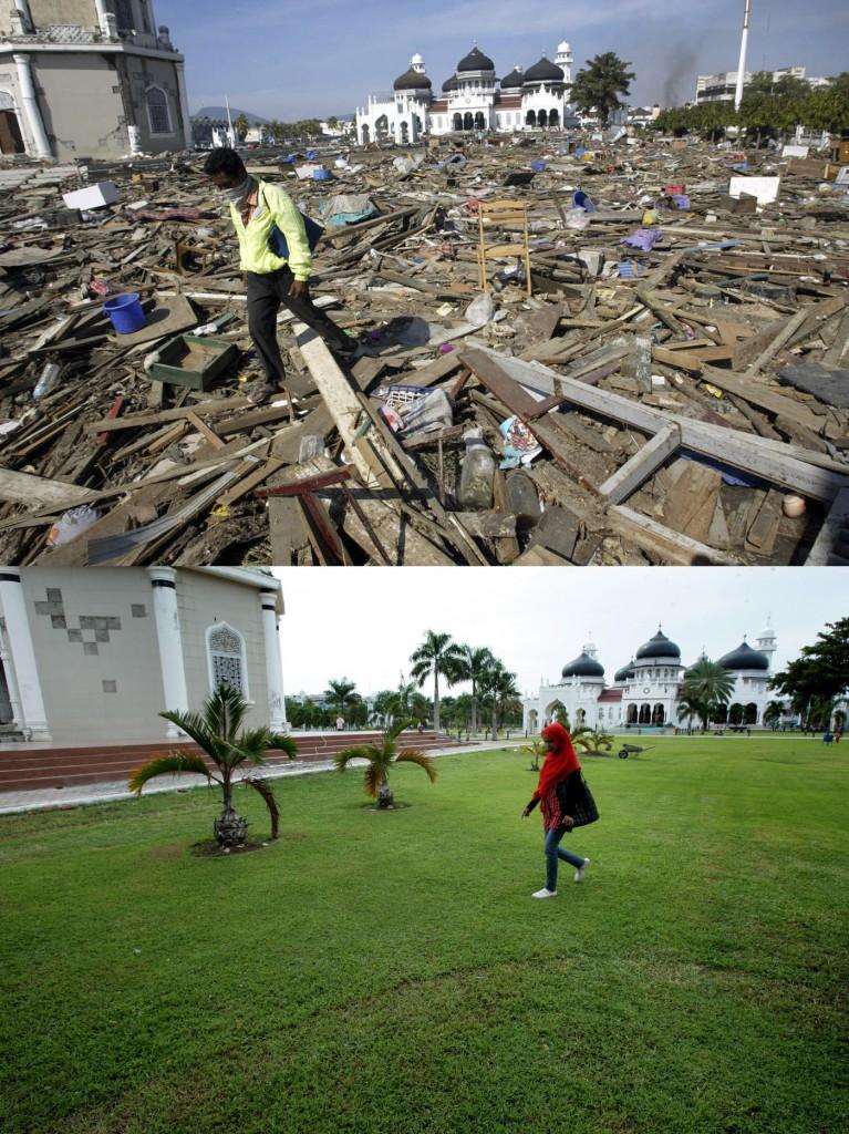 Dupa tsunami oamenii au reusit să reconstruiasca zonele distruse