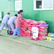 Sute de kilograme de hrană au fost donate sâmbătă pentru câinii de la Breasta (Foto: Anca Ungurenuş)