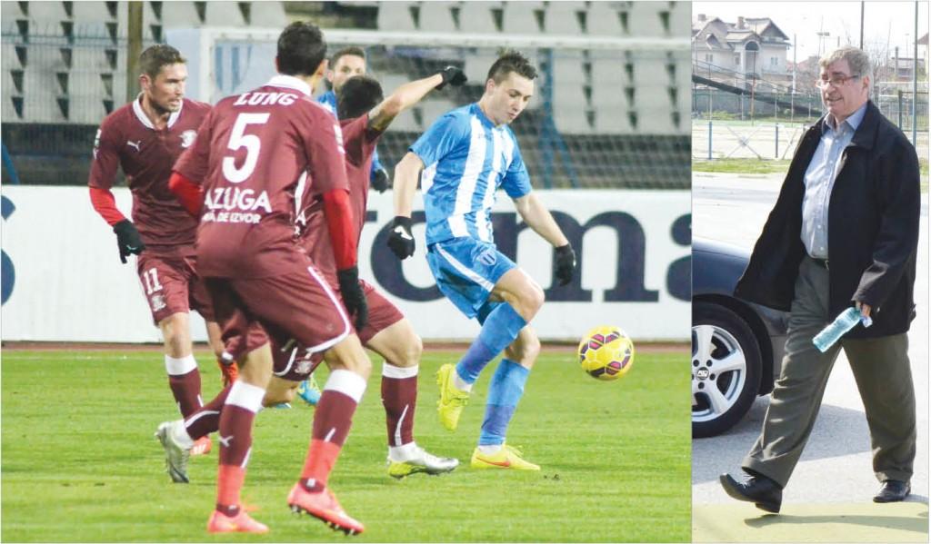 Aurică Beldeanu a venit de drag la ultimele jocuri ale lui Mateiu (la minge) şi compania (Foto: Alexandru Vîrtosu)
