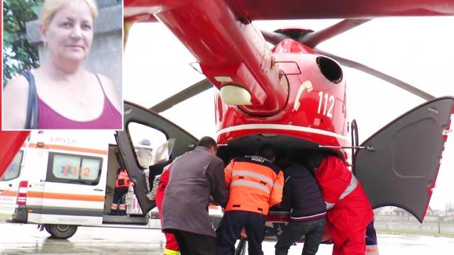 Profesoara Veronica Iordache (foto medalion) a fost preluată cu un elicopter