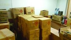 Polițiștii au confiscat sâmbătă peste patru tone de petarde, rachete și candele care urma să ajungă pe piața articolelor pirotehnice din Craiova