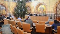 La începutul ședinței de îndată, organizată vineri, a fost prezent exact numărul de consilieri necesari pentru realizarea cvorumului (Foto: Anca Ungurenuș)