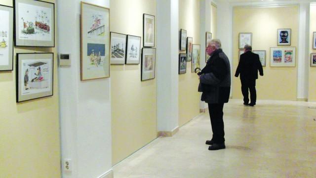 Salonul Internațional de Caricatură va putea fi vizitat până la începutului anului viitor