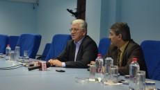 Directorul ABA Jiu, Marin Tălău, și directorul tehnic, Mihai Palașcă, au prezentat bilanțul pe 2014 al instituției, precum și proiectele prinse pe bugetul din 2015 (Foto: Anca Ungurenuș)