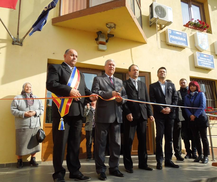 Pe 27 octombrie a fost inaugurat Serviciul de Evidenţă a Persoanelor din comuna Teasc