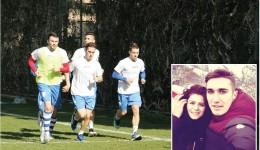 """Bogdan Vătăjelu (în centru) a """"alergat"""", alături de Herghelegiu (stânga), din Antalya la Iaşi pentru Alina (foto medalion)"""