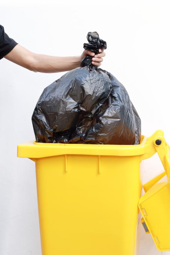trash bin, isolated on white