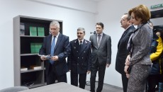 La inaugurarea centrului au participat (de la stânga  la dreapta): Ion Prioteasa, Marian Apostol, Cristinel  Iovan,  Sorin Răducan, Alina Tănăsescu