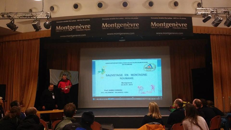Sabin Cornoiu, şeful Salvamont Gorj, a prezentat modul de organizare a activităţii de salvare în România şi modul de salvare pe pârtiile de schi