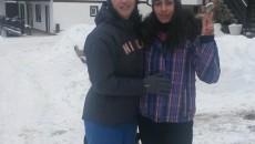 Anca Măroiu (stânga) și Loredana Dinu se află în cantonament la Cheile Grădiștei (foto: frscrimă.ro)