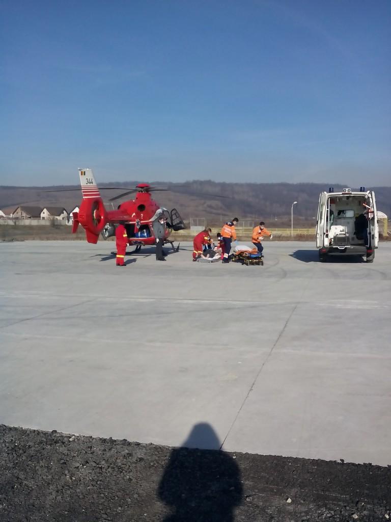 Personalul de la Ambulanţă şi SMURD a purtat măşti de protecţie