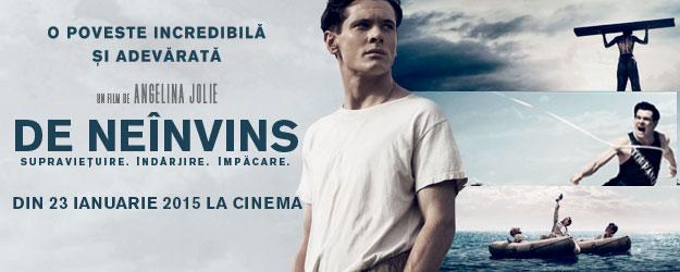 """Filmul """"De neînvins"""" spune povestea lui Louis Zamperini, maratonist olimpic şi aviator în cel de-al Doilea Război Mondial, (Foto: bucuresti24fun.ro)"""