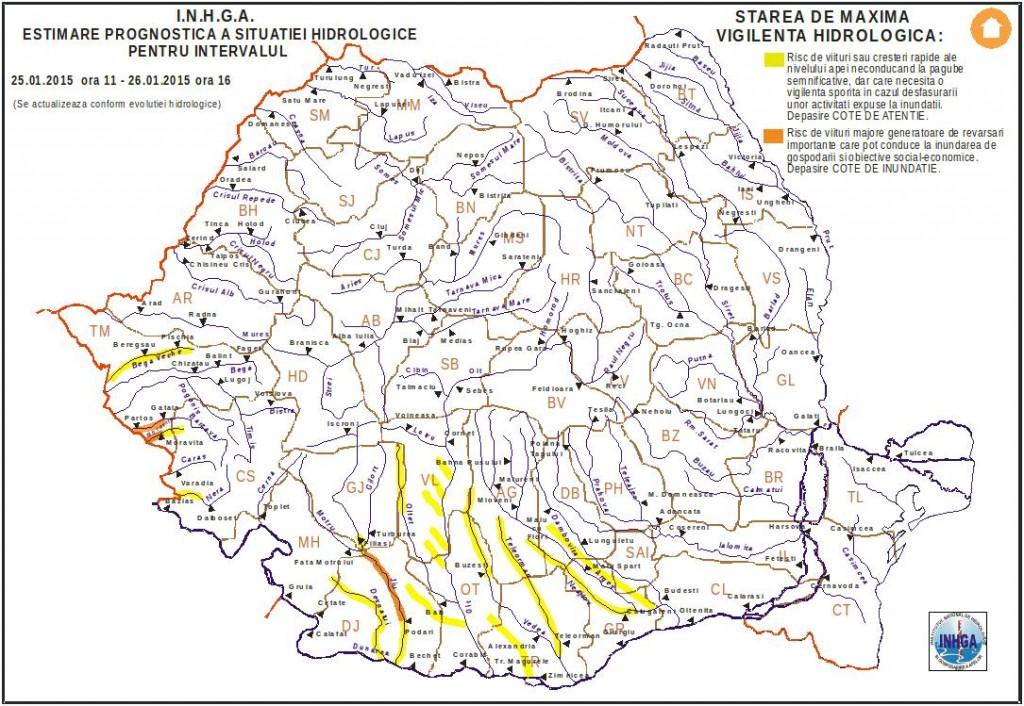 harta inundatii 25 ian