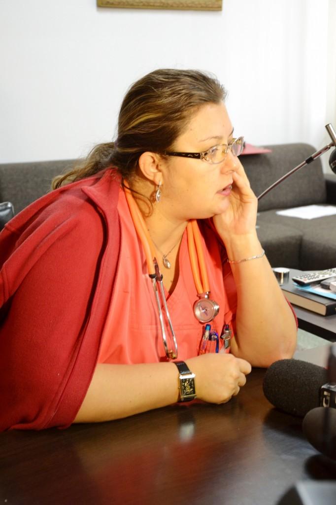 Ramona Oprea, purtătoarea de cuvânt a Spitalului Judeţean din Târgu Jiu