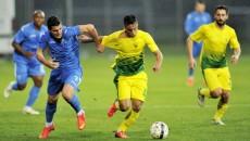 Briceag (în albastru) l-a înlocuit pe căpitanul Brandan în jocul cu ruşii de la Kuban Krasnodar (foto: csuc.ro)