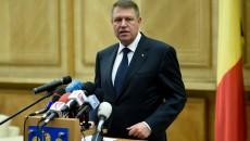 Preşedintele Klaus Iohannis în timpul declaraţiei de presă susţinute înainte de vizita oficială în Germania (Foto: presidency.ro)