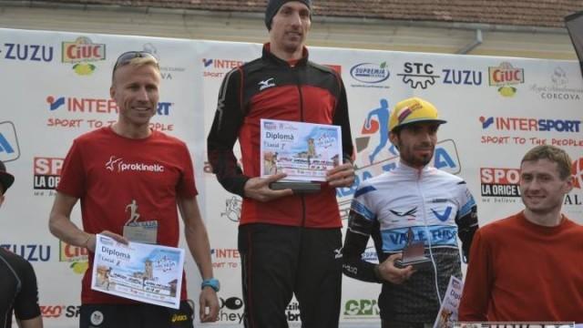(stânga) a ocupat locul doi la semimaraton, iar Ionuț Zincă s-a clasat pe locul al treilea