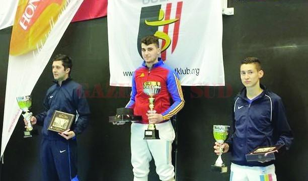 Craiovenii Tatian Bolboceanu (centru), Dorian Pârvan (stânga) şi Ovidiu Pârvuleasa  au acaparat podiumul în Austria