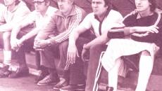 Mircea Irimescu, dr. Gerhard Fakner, Constantin Oțet, Ion Oblemenco, Silviu Lung, în sezonul eventului 1980-1981 (Foto: arhiva Corneliu Stroe)