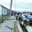 Autoturismul implicat în accidentul de la Bârseşti (Foto: Eugen Măruţă)