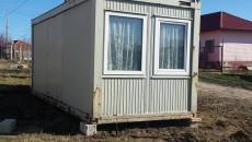 O familie din zona afectată a primit marți un modul în care să locuiască temporar