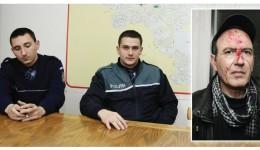 Polițiștii care l-au oprit pe Ovidiu Stângă (foto medalion) în trafic au explicat că acesta a căzut și s-a lovit cu fața de gheață (Foto: Arhiva GdS)