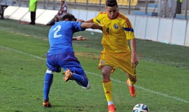 Steliano Filip şi colegii săi au făcut un meci bun contra Islandei U21 (foto: frf.ro)