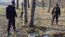 Cele cinci proiectile au fost găsite în pădurea din satul Bistriţa, judeţul Mehedinţi
