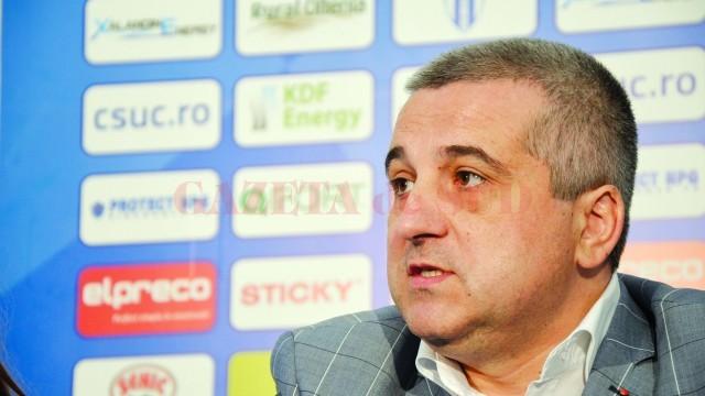 Felix Grigore crede că avocaţii CSU o vor învinge pe UEFA la TAS (Foto: Alexandru Vîrtosu)