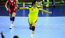 Bianca Bazaliu a fost cea mai bună jucătoare din echipa României, cu 9 goluri