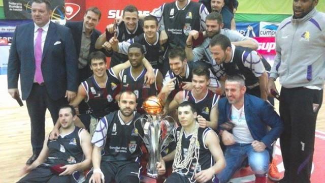 Jucătorii de la BC Timişoara au cucerit Cupa României (foto: Opinia Timişoarei)