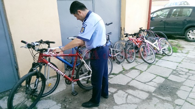 În iulie, anul trecut,  polițiștii de la Secția 4  au găsit 14 biciclete din cele 28 furate de Dovlecioaica
