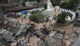 Turnul Dharahara, vechi de 200 de ani, s-a prăbuşit