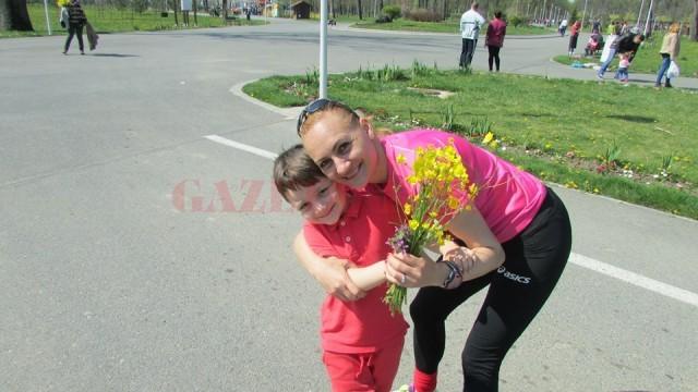 Andrei Sorin, fiul Claudiei Ștef, participă frecvent la antrenamentele susținute de campioană