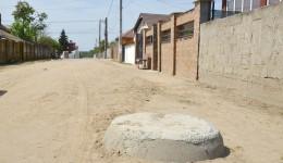 Canalizarea din Malu Mare a rămas la 39% din proiect (FOTO: GdS)