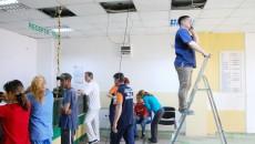 Activitatea de la  Unitatea de Primiri Urgenţe a Spitalului Judeţean Craiova este îngreunată de lucrările de construire  a noii Clinici de Cardiologie ()